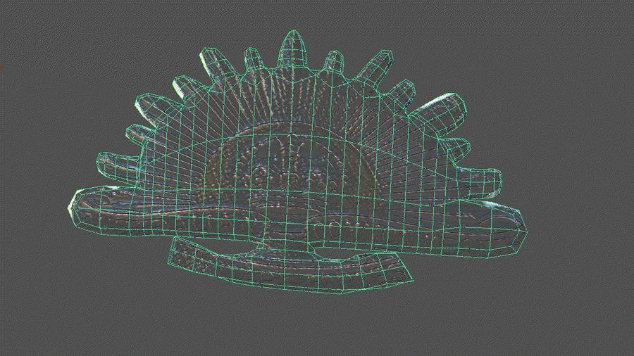 Odznaka australijskiego wschodzącego słońca royalty-free 3d model - Preview no. 4