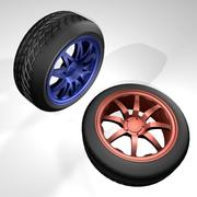 Автомобильные шины 3d model