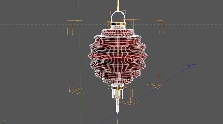 chińska latarnia royalty-free 3d model - Preview no. 4