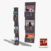 Magazine & Brochure Rack 3d model