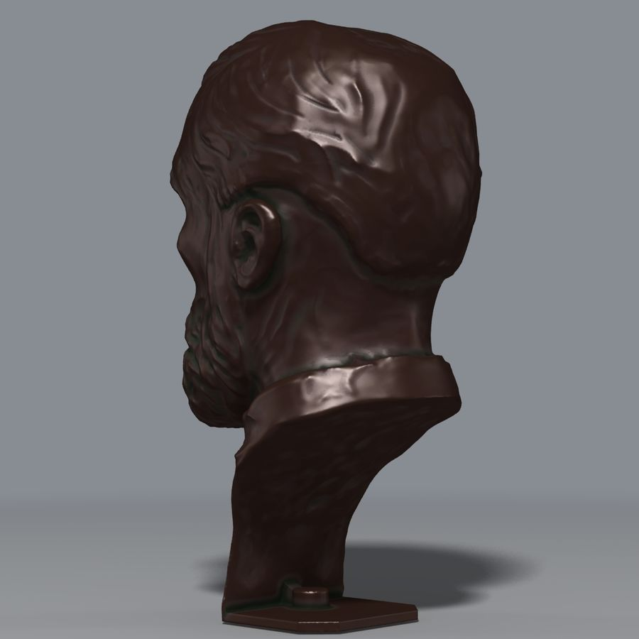 Bronzen buste royalty-free 3d model - Preview no. 3
