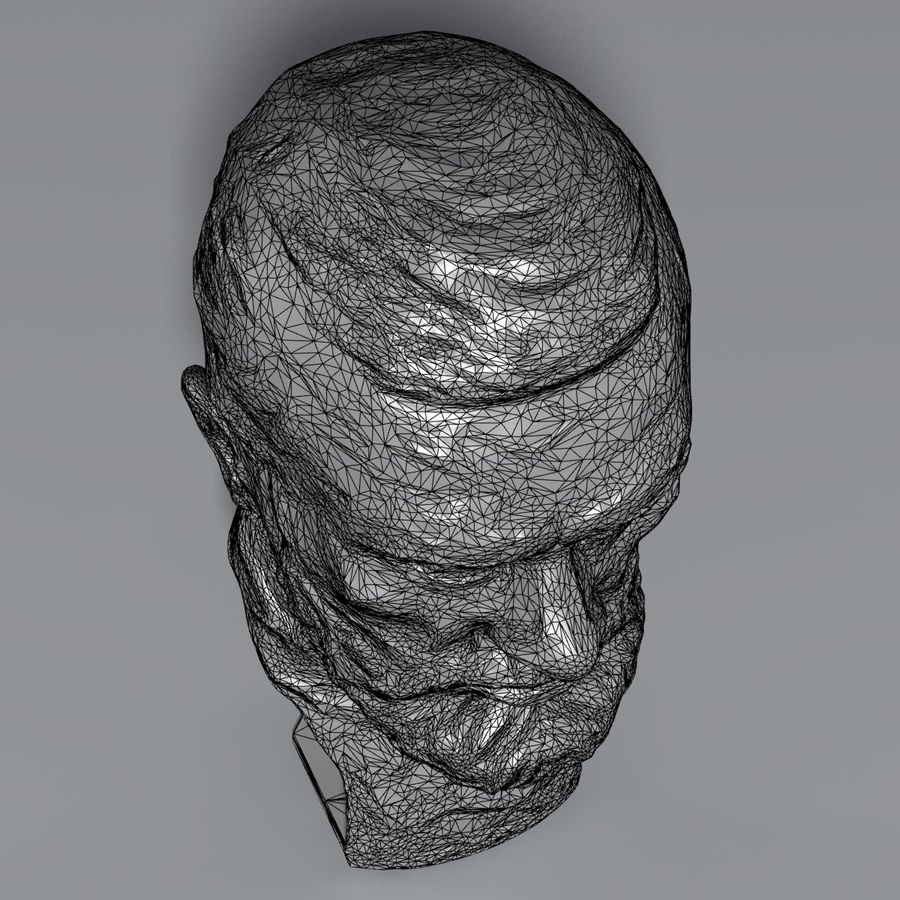 Bronz büst royalty-free 3d model - Preview no. 10