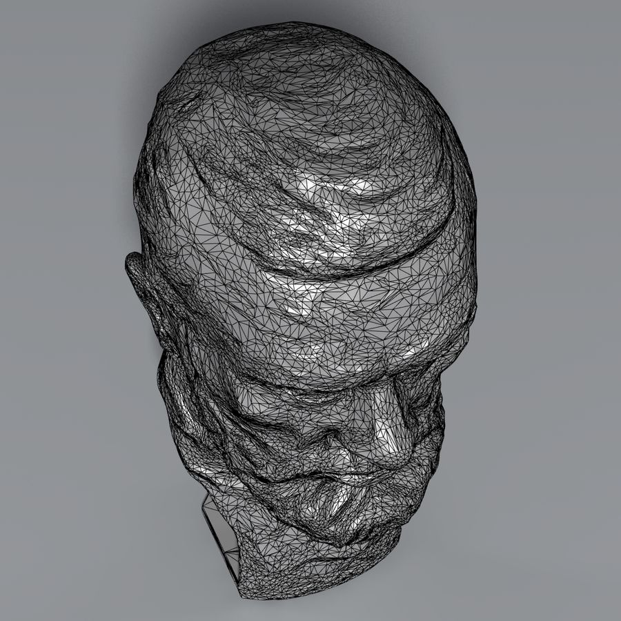 Bronzen buste royalty-free 3d model - Preview no. 10