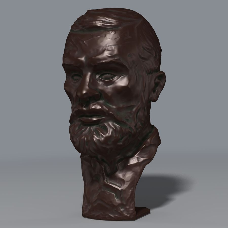 Bronz büst royalty-free 3d model - Preview no. 2