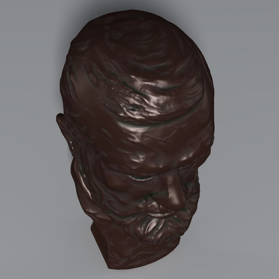 Bronzen buste royalty-free 3d model - Preview no. 6