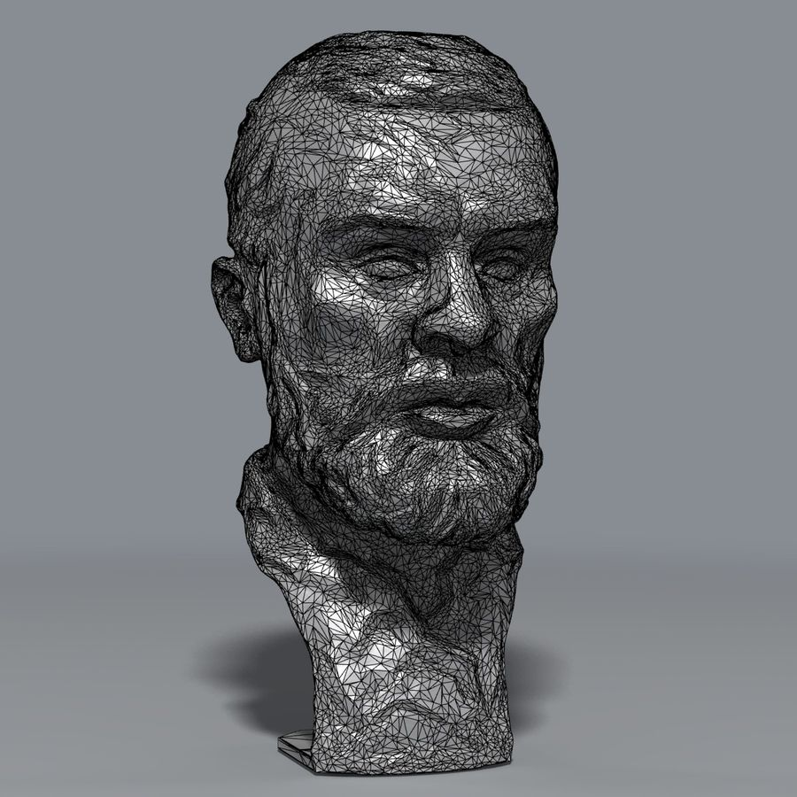 Bronz büst royalty-free 3d model - Preview no. 7