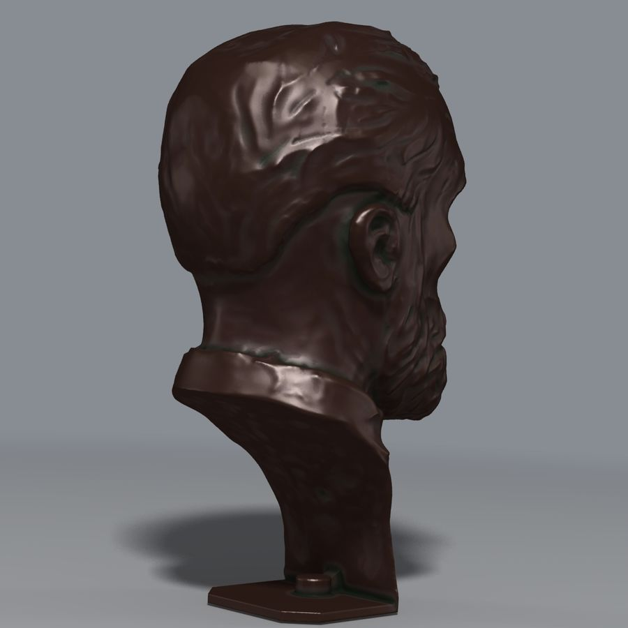 Bronzen buste royalty-free 3d model - Preview no. 4