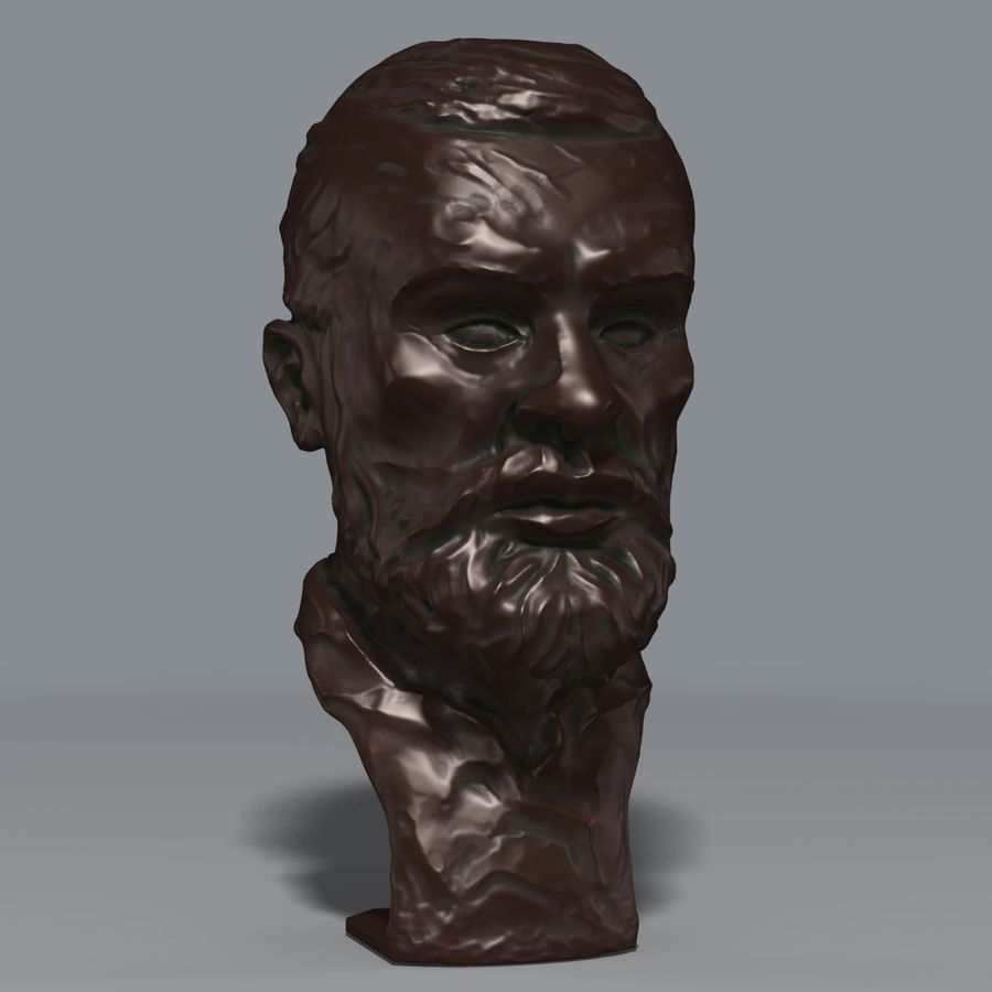 Bronz büst royalty-free 3d model - Preview no. 1