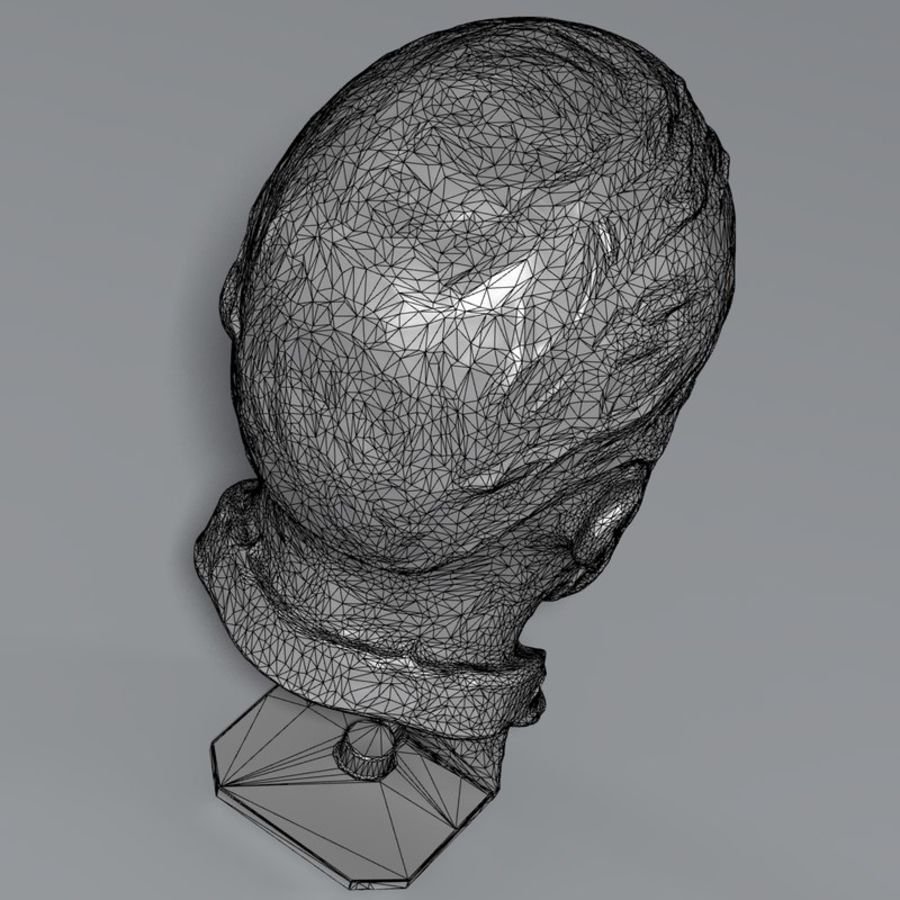Bronz büst royalty-free 3d model - Preview no. 9