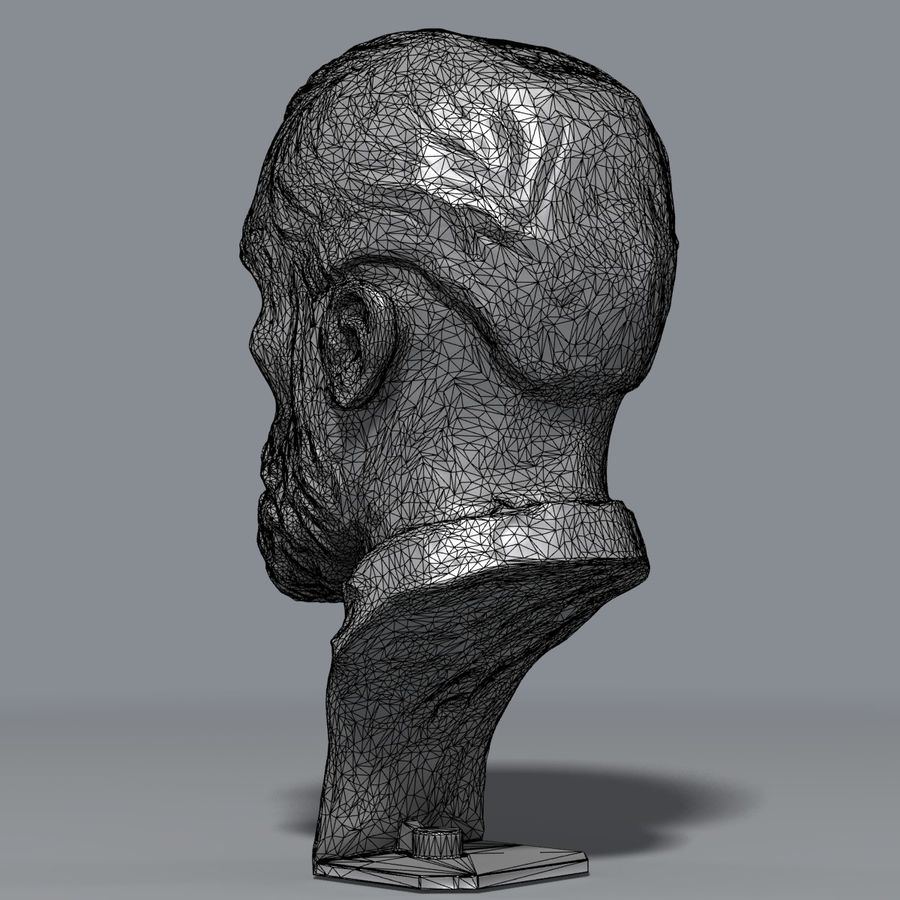 Bronz büst royalty-free 3d model - Preview no. 8