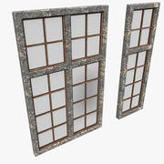 老固定石中世纪城堡窗口 3d model