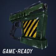 Futurystyczny pistolet 3d model