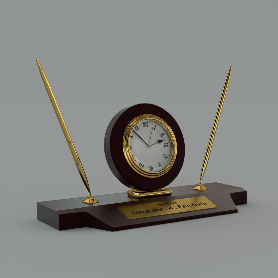 Relógio de mesa royalty-free 3d model - Preview no. 1