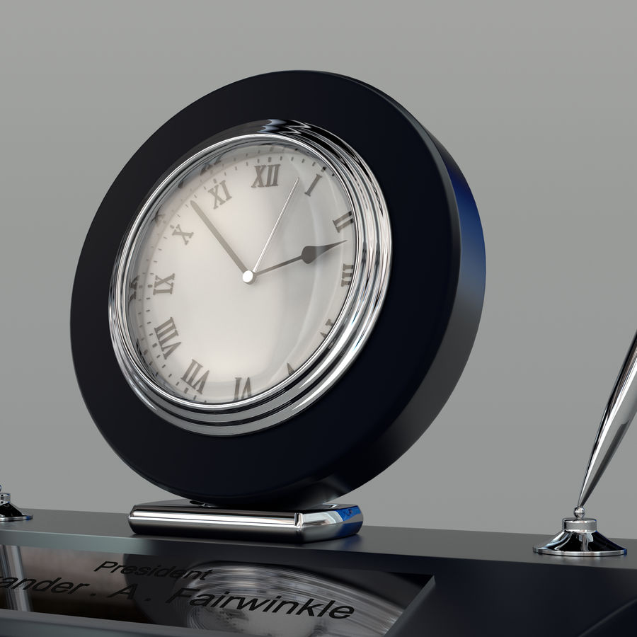 Desk clock royalty-free 3d model - Preview no. 3