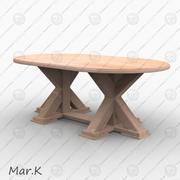 저녁 식사 테이블 Marketa 3d model