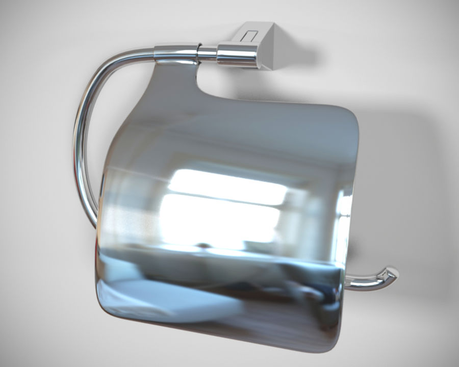 Bathroom accessories royalty-free 3d model - Preview no. 5