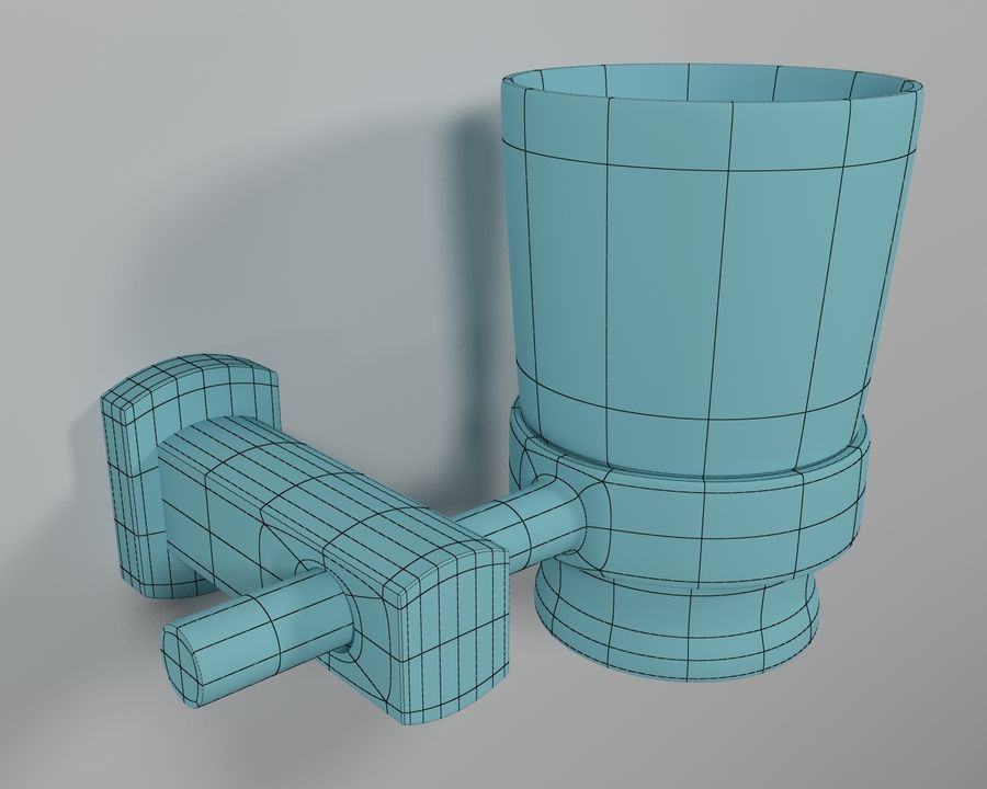 Bathroom accessories royalty-free 3d model - Preview no. 8