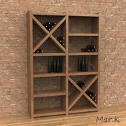 винный шкаф 2 3d model