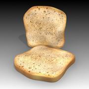 빵 조각 3d model