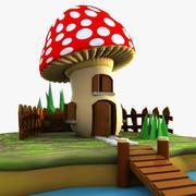 Mushroom House 2 3d model
