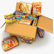 Supermarket Box Cereals Food shelf 3d model