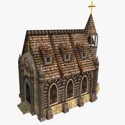 Церковь (низкополигональная) 3d model