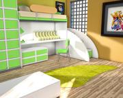 孩子卧室 3d model