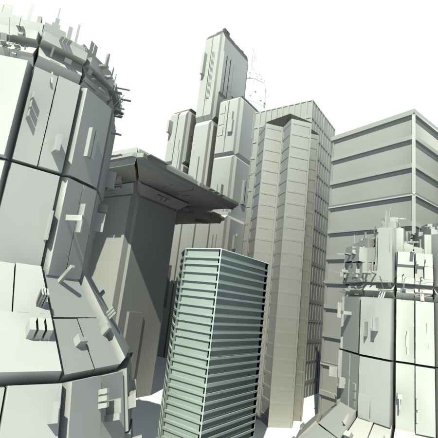 城市建筑 royalty-free 3d model - Preview no. 3