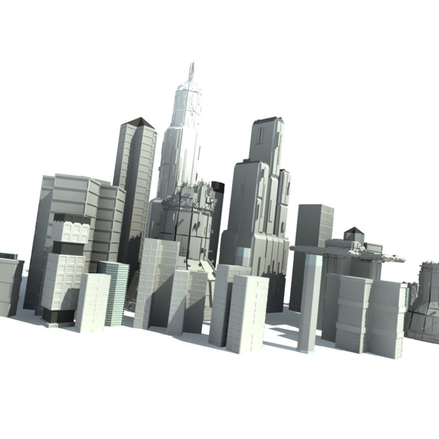 City Buildings royalty-free 3d model - Preview no. 1