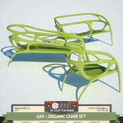 G69-オーガニチェアセット 3d model