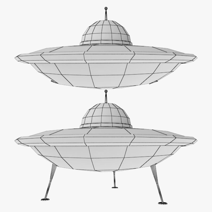 Ufo Spaceship royalty-free 3d model - Preview no. 2