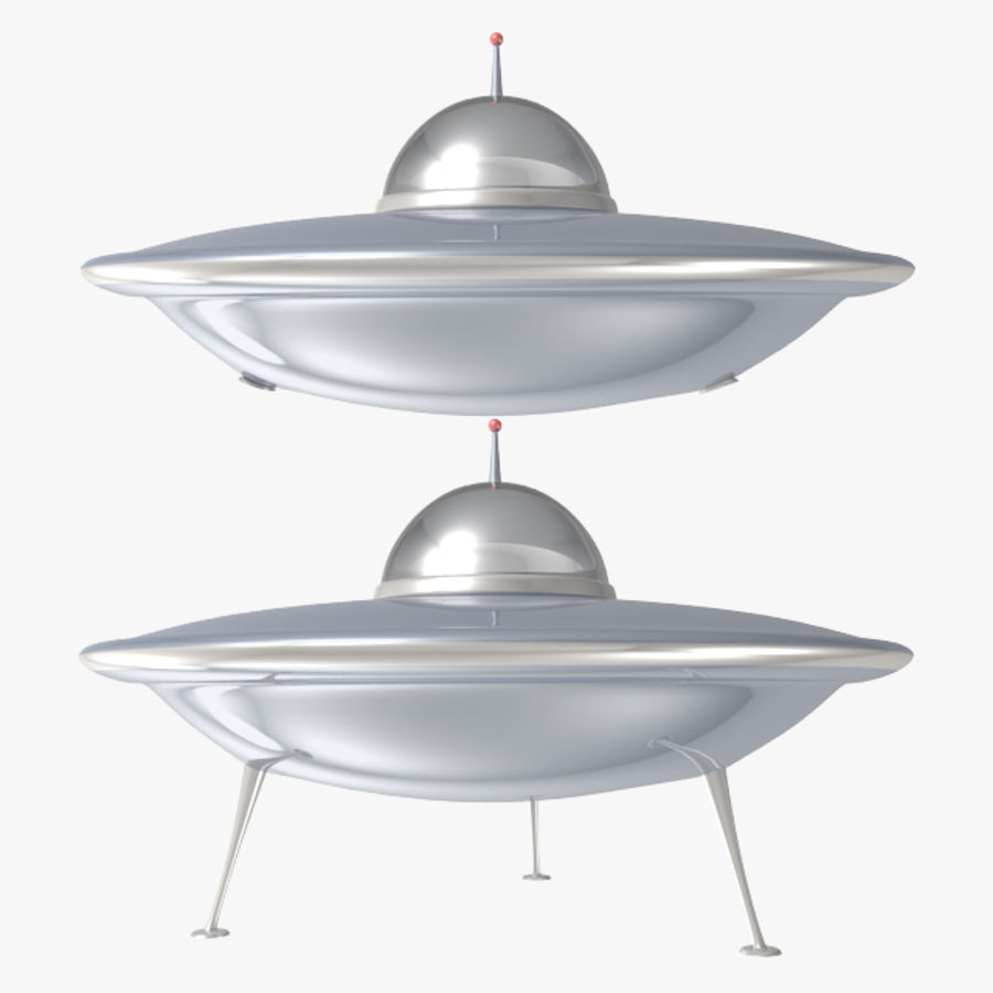 Ufo Spaceship royalty-free 3d model - Preview no. 1
