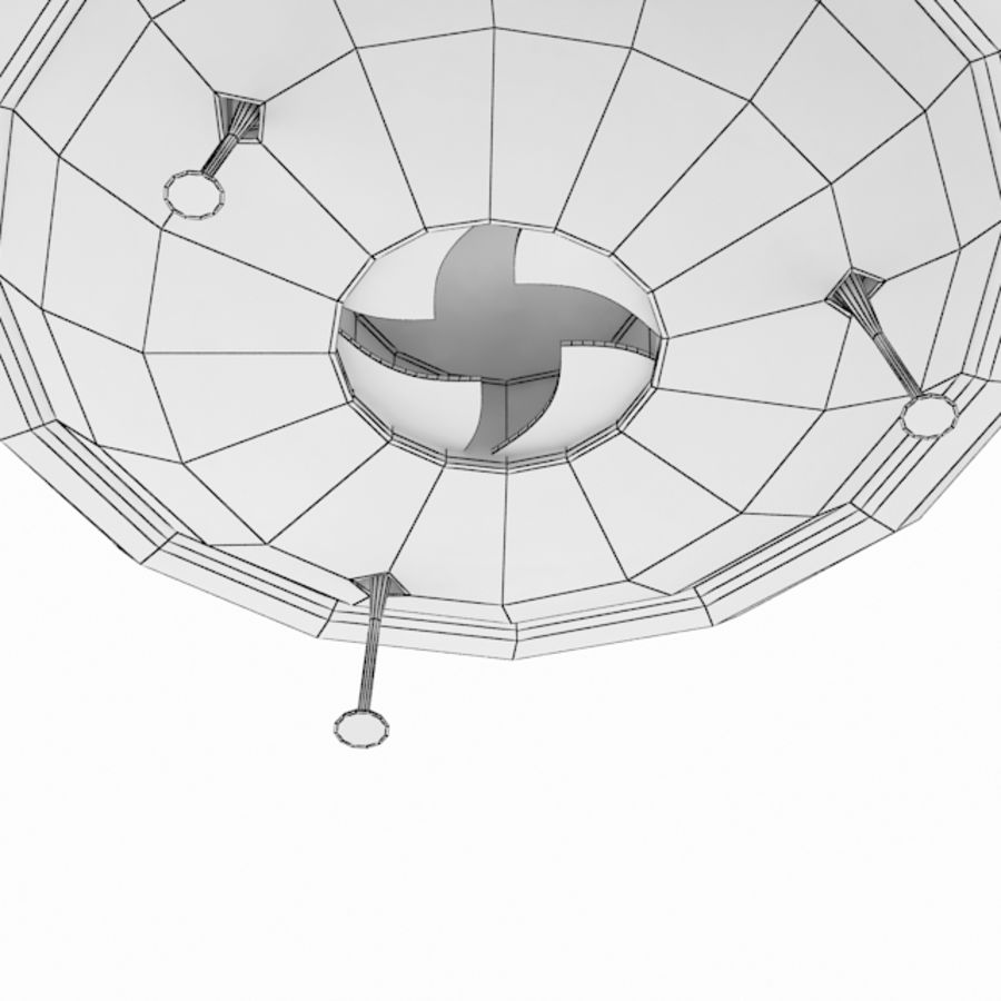 Ufo Spaceship royalty-free 3d model - Preview no. 4