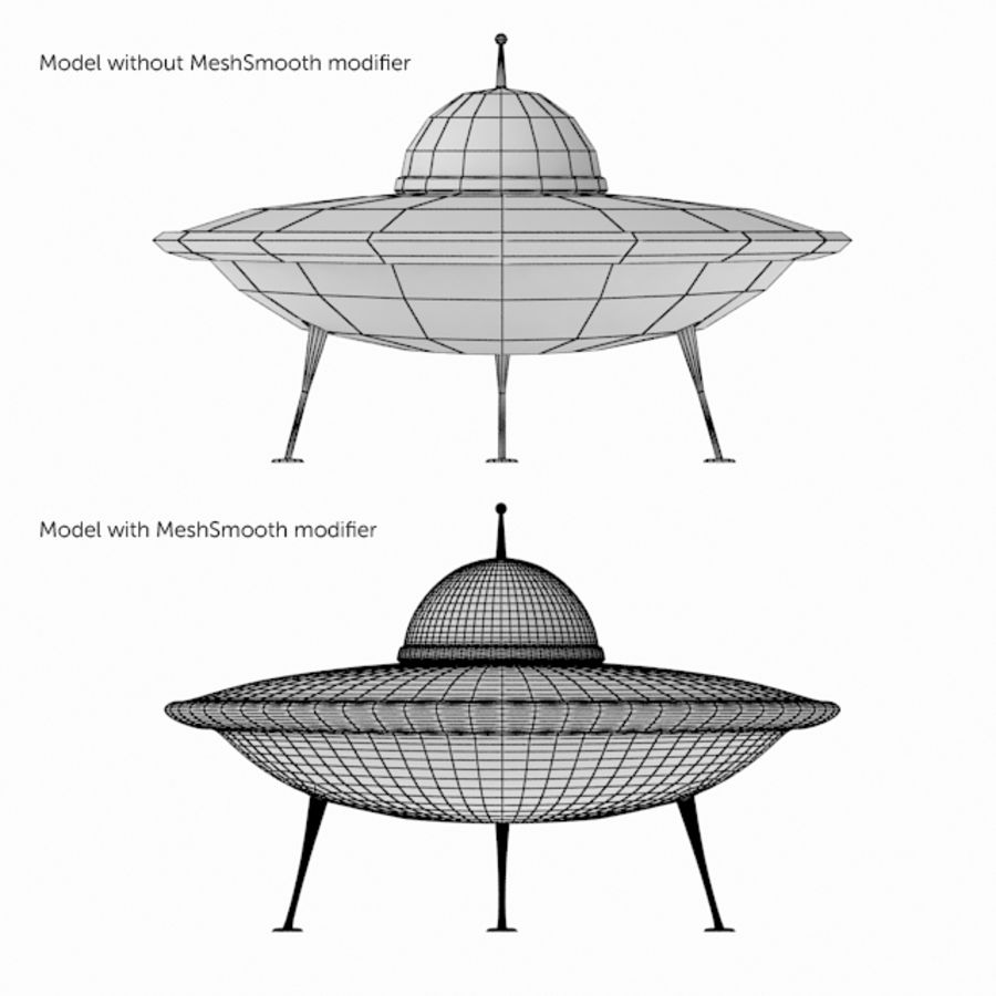 Ufo Spaceship royalty-free 3d model - Preview no. 5