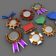 Başarı madalyaları seti 3d model