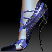 Zapato dorado modelo 3d