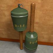 Stary granat 3d model