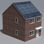 Solar panel house 3d model