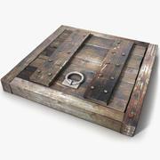 Wood Medieval Floor Trap Door 3d model