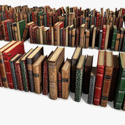 Old Luxurious Ancient Books Collection Set Vintage 3d model