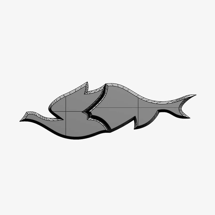 Fågel - fiskmönster royalty-free 3d model - Preview no. 8