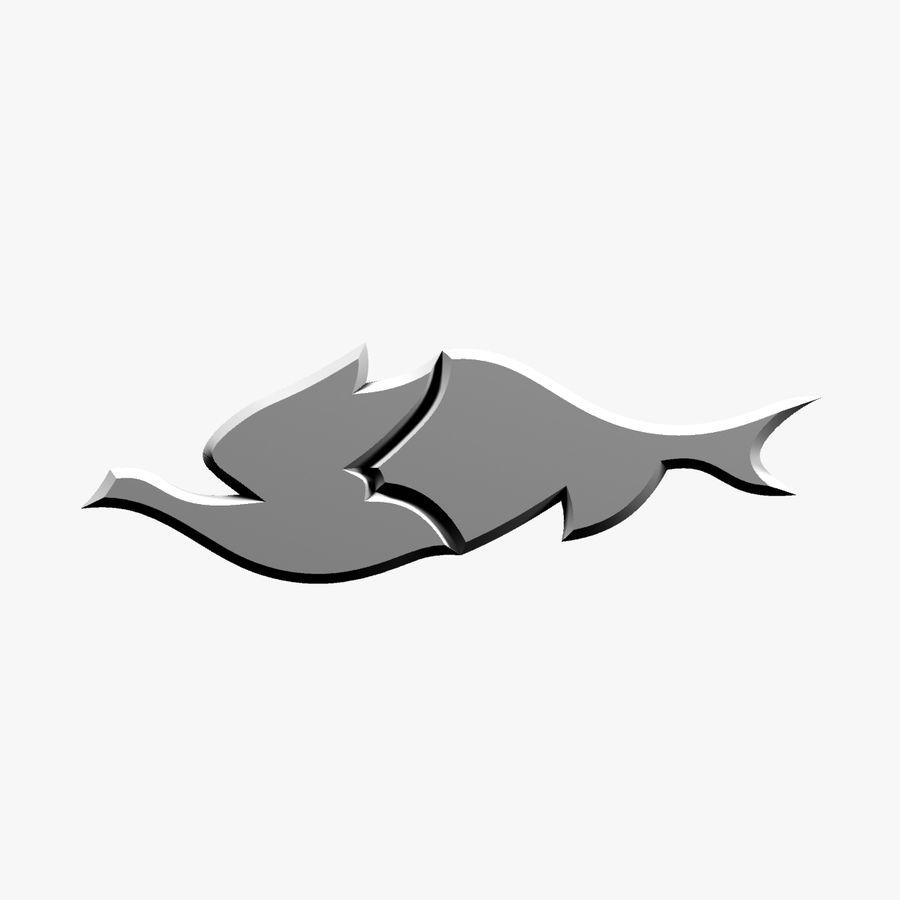 Fågel - fiskmönster royalty-free 3d model - Preview no. 7