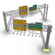 Motorvägsskyltar 3d model