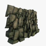 Стилизованная скала 3d model