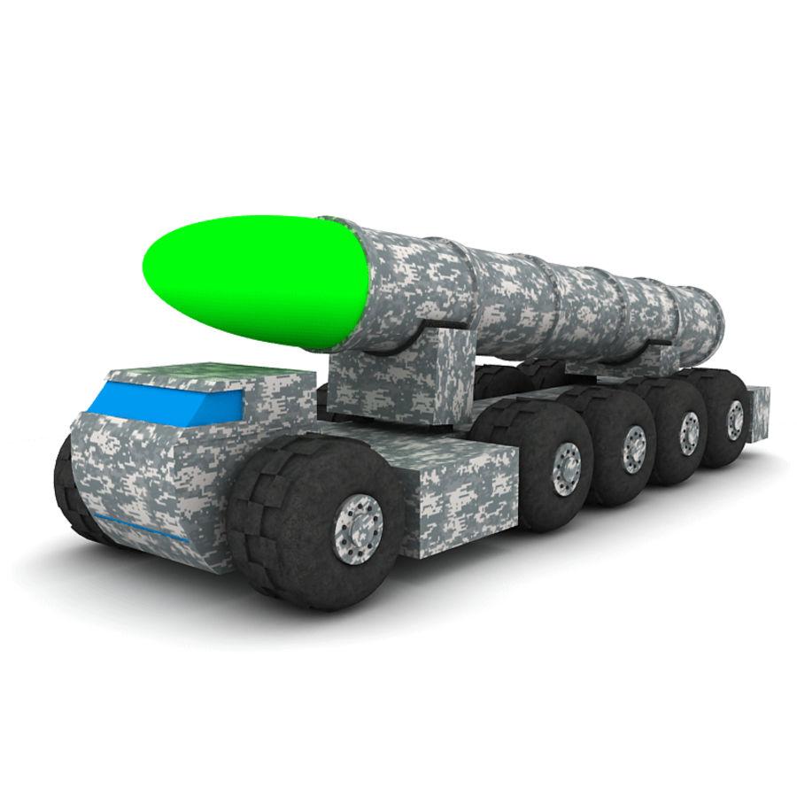 Balistik roketatar ahşap oyuncak royalty-free 3d model - Preview no. 1