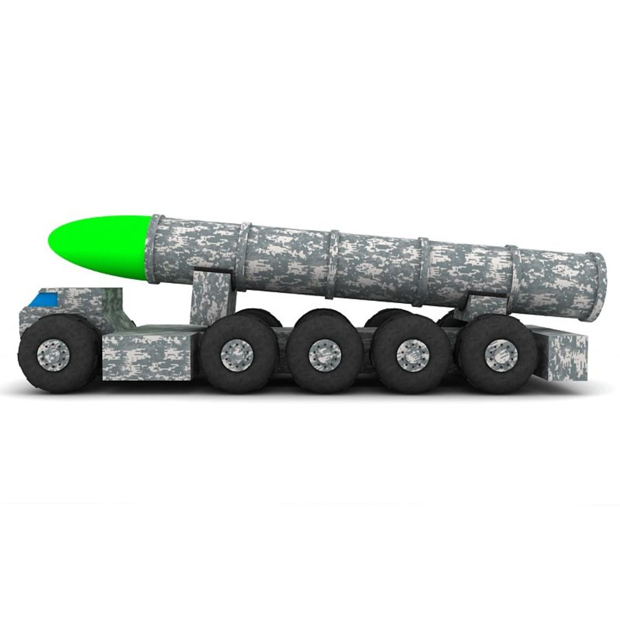 Balistik roketatar ahşap oyuncak royalty-free 3d model - Preview no. 3