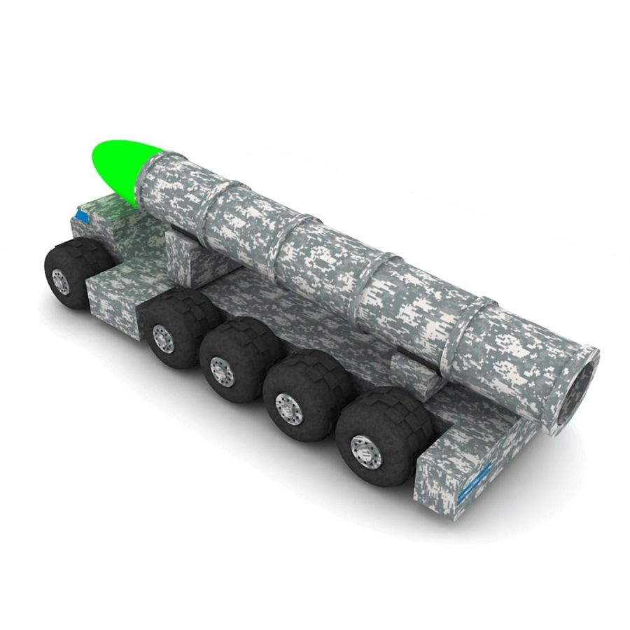 Balistik roketatar ahşap oyuncak royalty-free 3d model - Preview no. 5