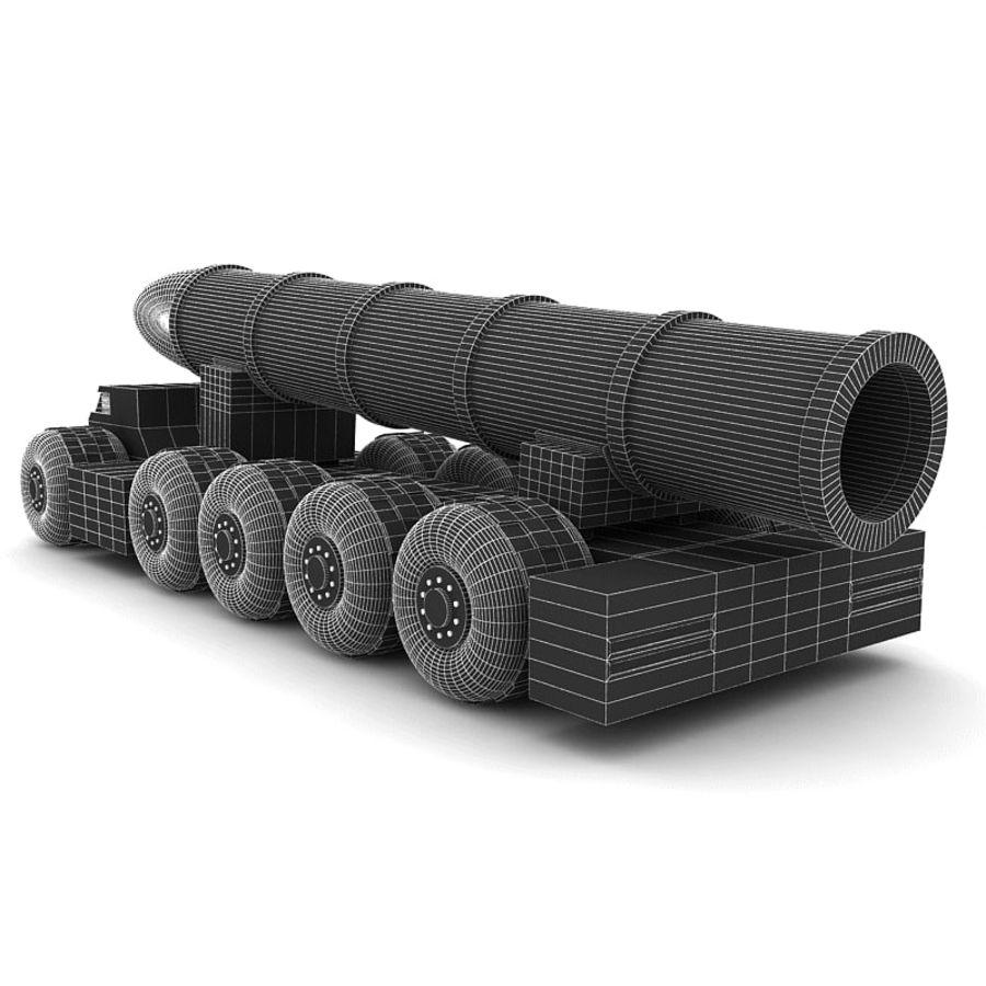 Balistik roketatar ahşap oyuncak royalty-free 3d model - Preview no. 10