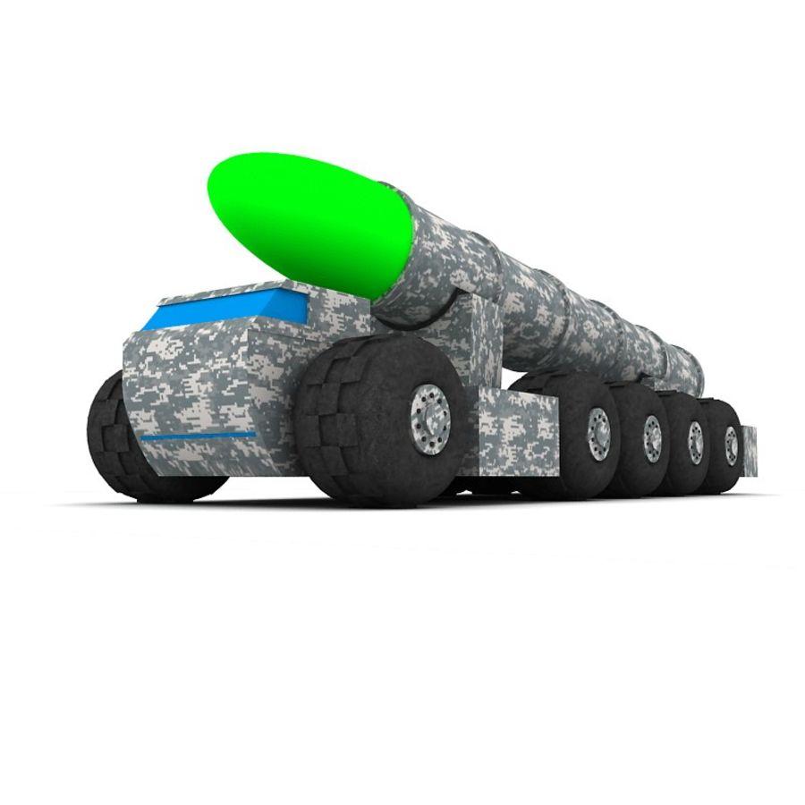 Balistik roketatar ahşap oyuncak royalty-free 3d model - Preview no. 7