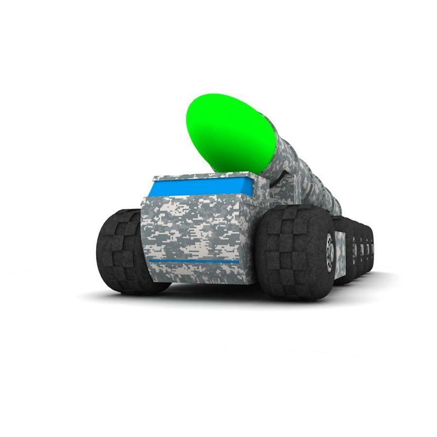 Balistik roketatar ahşap oyuncak royalty-free 3d model - Preview no. 2